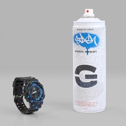 G SHOCK X STASH GA100ST-2AER WATCH BLACK BLUE