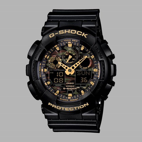 G Shock Watch GA-100CF-1A9ER Black Camo