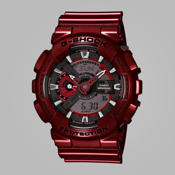 G SHOCK WATCH GA-110NM-4AER METALLIC RED