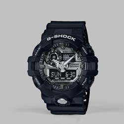G SHOCK WATCH GA-710-1AER BLACK SILVER