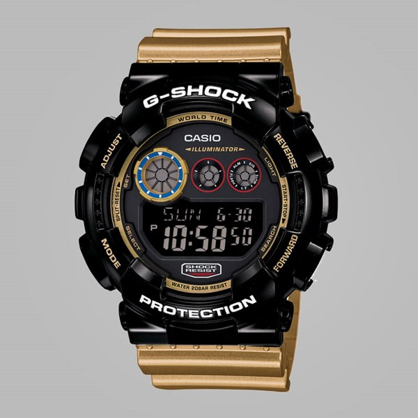 G SHOCK WATCH GD-120CS-1ER BLACK GOLD