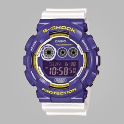 G SHOCK WATCH GD-120CS-6ER PURPLE WHITE