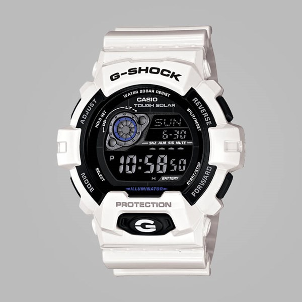 G SHOCK WATCH GR-8900A-7ER WHITE BLACK