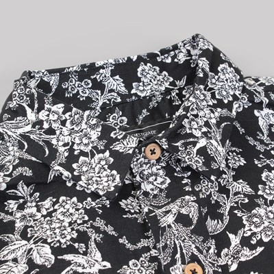GRAND SCHEME PORCELAIN LS SHIRT BLACK