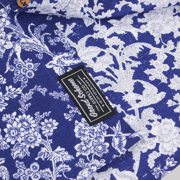 GRAND SCHEME PORCELAIN LS SHIRT BLUE