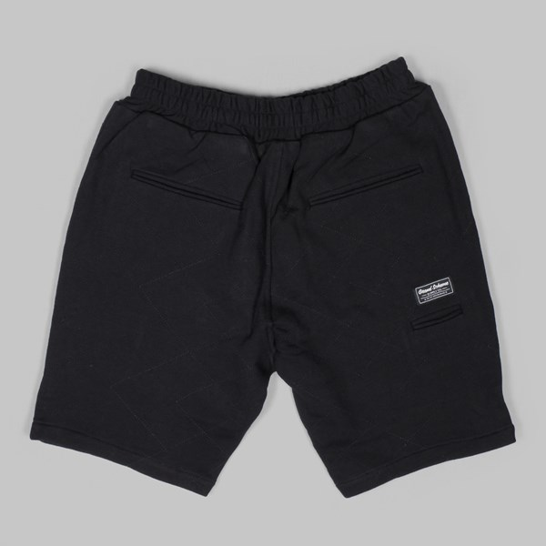 GRAND SCHEME QUILTED TRACK SHORTS BLACK