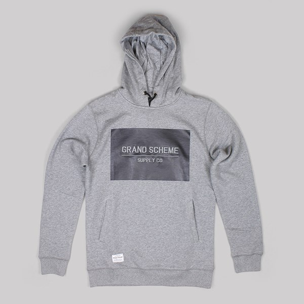 GRAND SCHEME TONAL BOX LOGO HOODY GREY