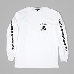 GRAND SCHEME WOLF SCHEMERS LS T SHIRT WHITE