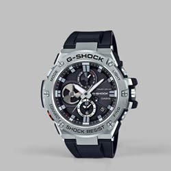 G SHOCK STEEL WATCH GST-B100-1AER SILVER BLACK