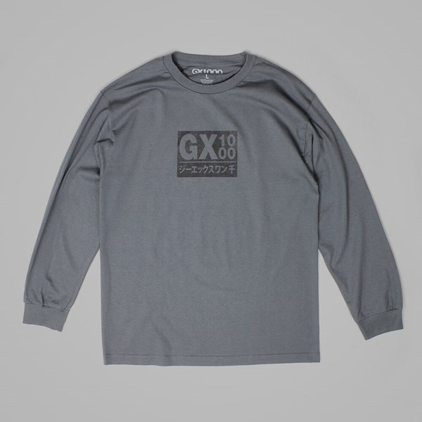 GX1000 JAPAN LONG SLEEVE TEE CHARCOAL