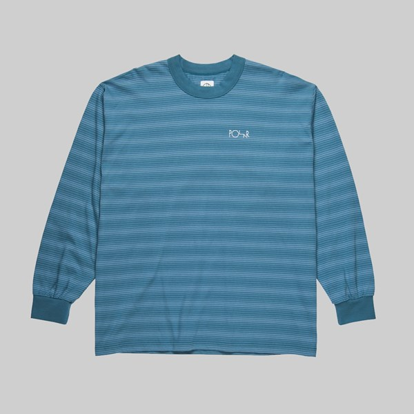 POLAR SKATE CO. GRADIENT LONGSLEEVE BLUE