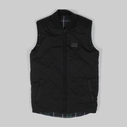 Grand Scheme Reversible Quilted Vest Black