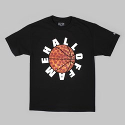 HALL OF FAME PIZZA BALL T SHIRT BLACK