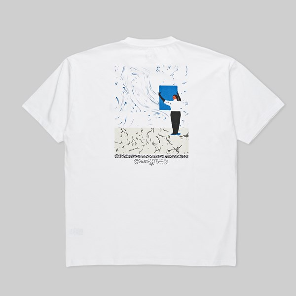 POLAR SKATE CO. HANGING A PAINTING SS TEE WHITE