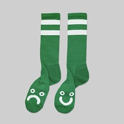 POLAR SKATE CO. HAPPY SAD SOCKS GREEN