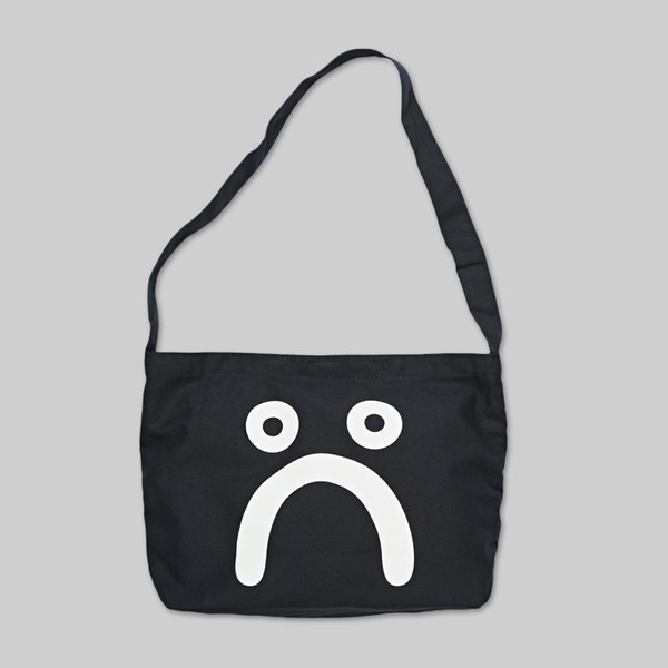 POLAR SKATE CO. HAPPY SAD TOTE BAG BLACK