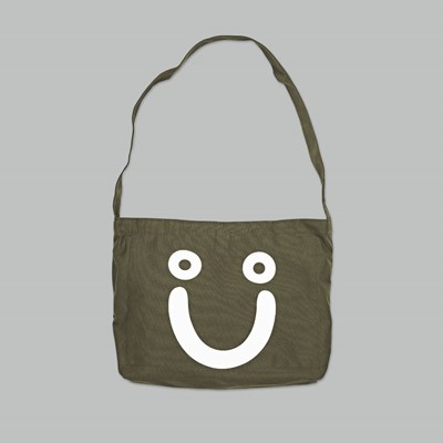 POLAR SKATE CO. HAPPY SAD TOTE BAG OLIVE