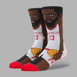 STANCE NBA LEGENDS J. HARDEN SOCKS WHITE