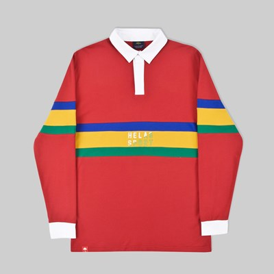 HELAS RUDE LONG SLEEVE POLO RED