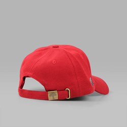 HELAS SUNDAY COTTON PIQUE 6 PANEL CAP RED