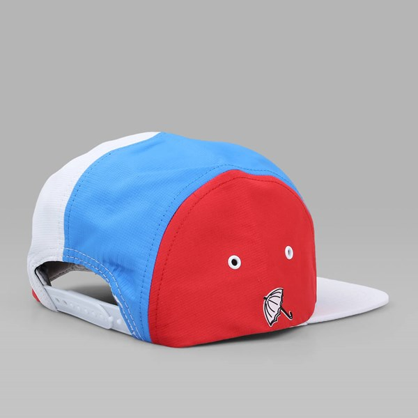 HELAS Sunday 5 Panels Cap WHITE RED BLUE