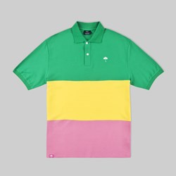 HELAS TRIO POLO GREEN YELLOW PINK