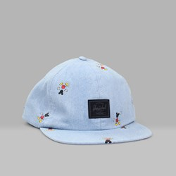HERSCHEL X DISNEY Albert 6 Panel Cap Denim
