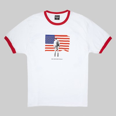 HOCKEY SKATEBOARDS PATRIOT NECK RINGER TEE RED
