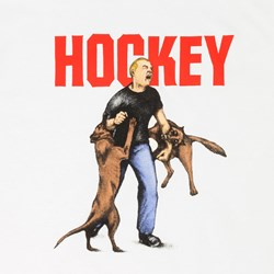HOCKEY SKATEBOARDS DOG ATTACK TEE WHITE