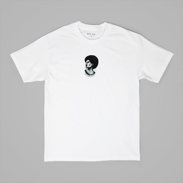 HOTEL BLUE AFRO TEE WHITE