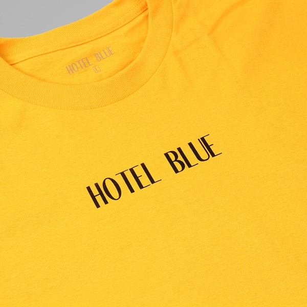 HOTEL BLUE 'HOTEL BLUE' T SHIRT YELLOW