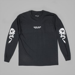 HOTEL BLUE SKATEBOARDS DRAGON LS TEE BLACK