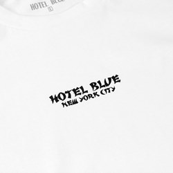 HOTEL BLUE SKATEBOARDS DRAGON LS TEE WHITE