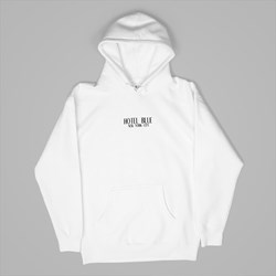 HOTEL BLUE SKATEBOARDS LOGO PO HOOD WHITE