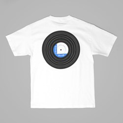 HOTEL BLUE 'VINYL' T SHIRT WHITE
