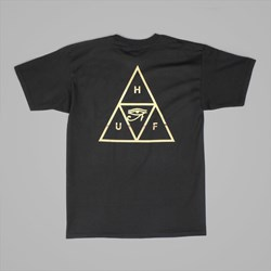 HUF 24K TRIPLE TRIANGLE SS T-SHIRT BLACK