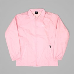 HUF BAR LOGO COACHES JACKET PINK