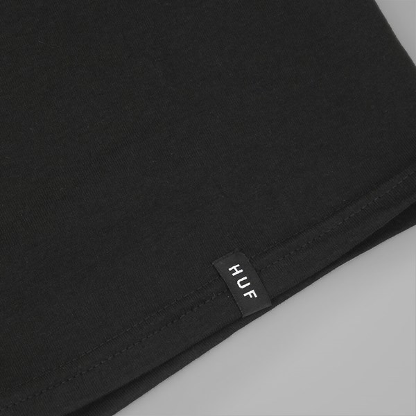HUF BAR LOGO T SHIRT BLACK