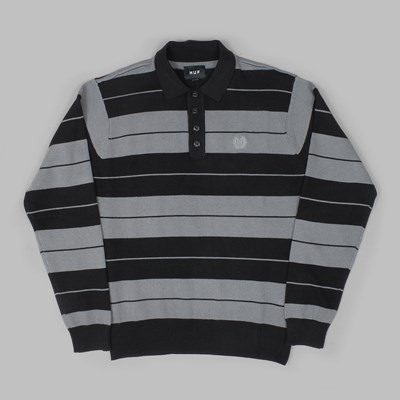 HUF BOYLE LONG SLEEVE RUGBY TOP BLACK