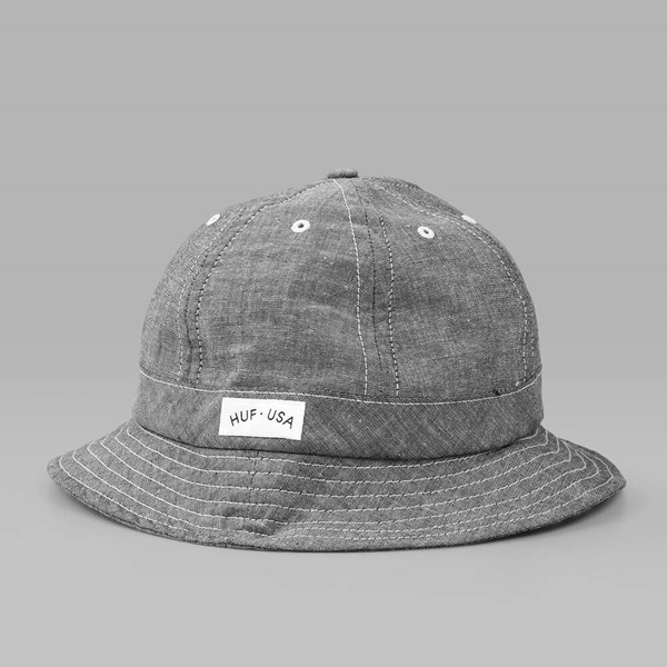 HUF CHAMBRAY BELL HAT BLACK