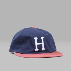 HUF CLASSIC H 6 PANEL CAP NAVY RED