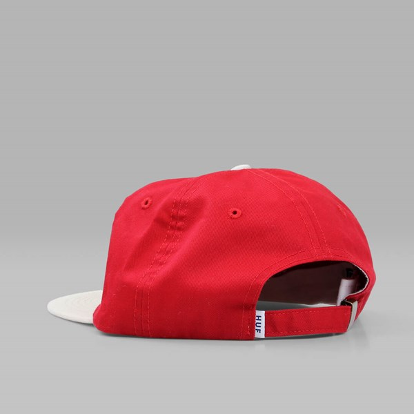 HUF CLASSIC H 6 PANEL CAP RED NATURAL