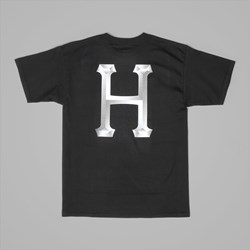 HUF CLASSIC H CHROME T SHIRT BLACK