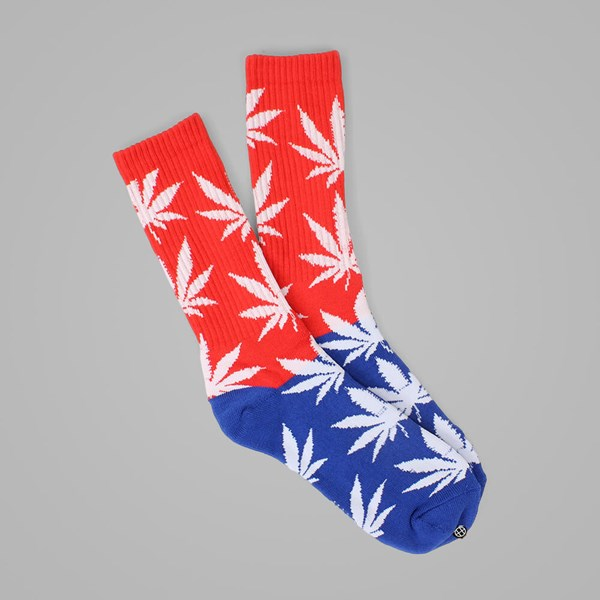 HUF COLOR BLOCK PLANTLIFE CREW SOCK RED-BLUE