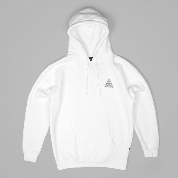 HUF CONCRETE TRIPLE TRIANGLE PULLOVER HOOD WHITE