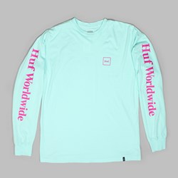 HUF DOMESTIC LONG SLEEVE T-SHIRT CELADON