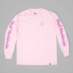 HUF DOMESTIC LONG SLEEVE TEE PINK