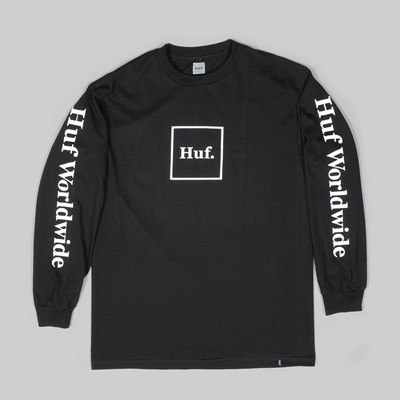 HUF DOMESTIC LONGSLEEVE T-SHIRT BLACK