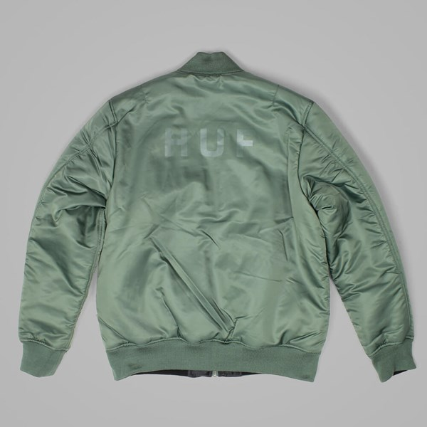 HUF ELITE REVERSIBLE MA-1 JACKET OLIVE DRAB