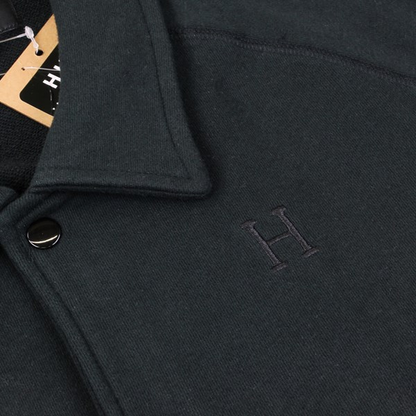 HUF FLEECE COACHES JACKET BLACK